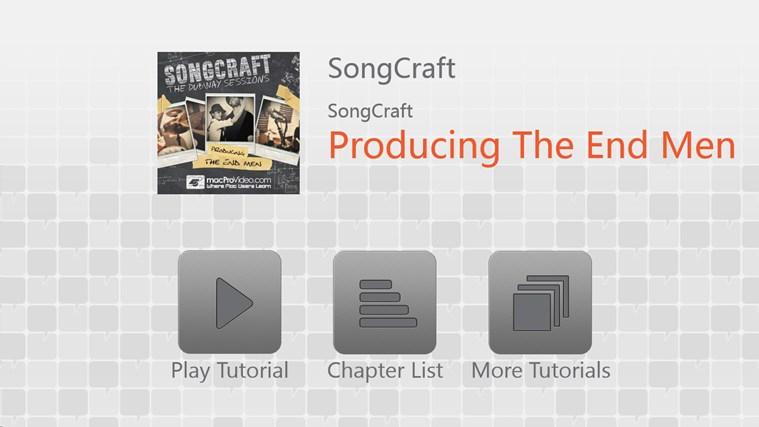 SongCraft - Producing The End Men full screenshot