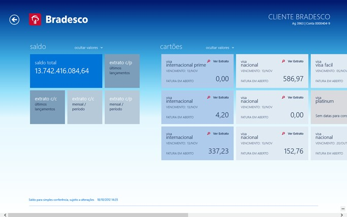 Bradesco screen shot 2