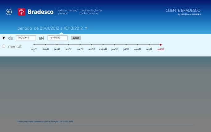 Bradesco screen shot 6