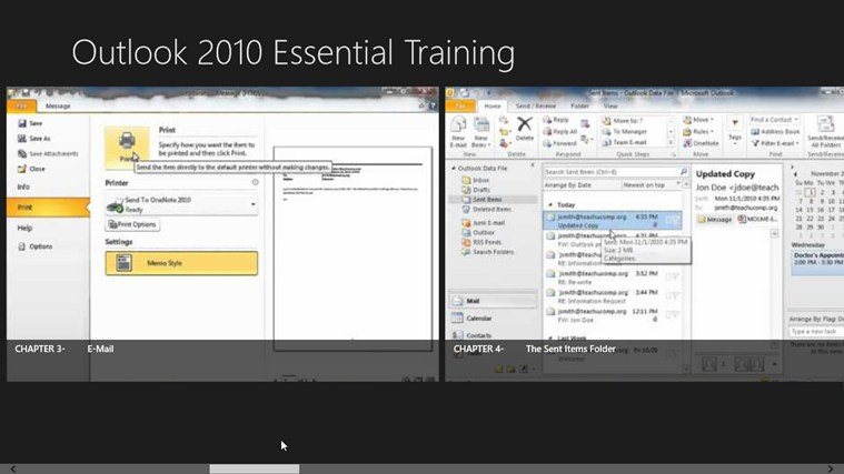 Outlook 2010 Tutorials: Essential Training screen shot 2