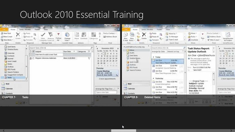 Outlook 2010 Tutorials: Essential Training screen shot 4