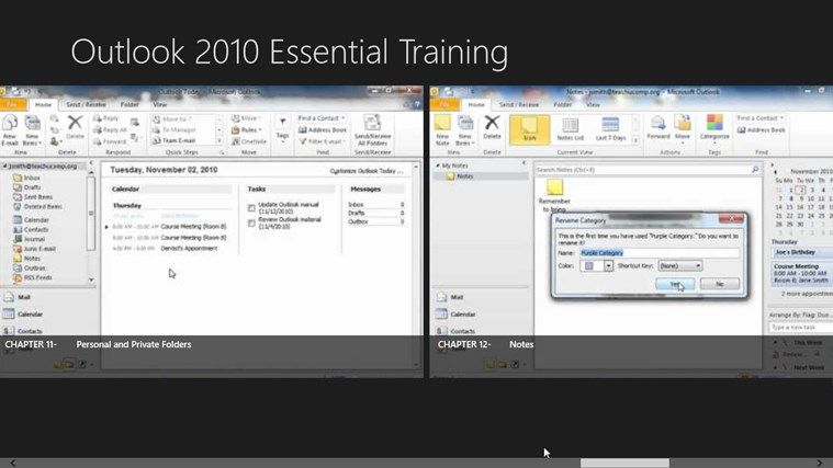 Outlook 2010 Tutorials: Essential Training screen shot 6