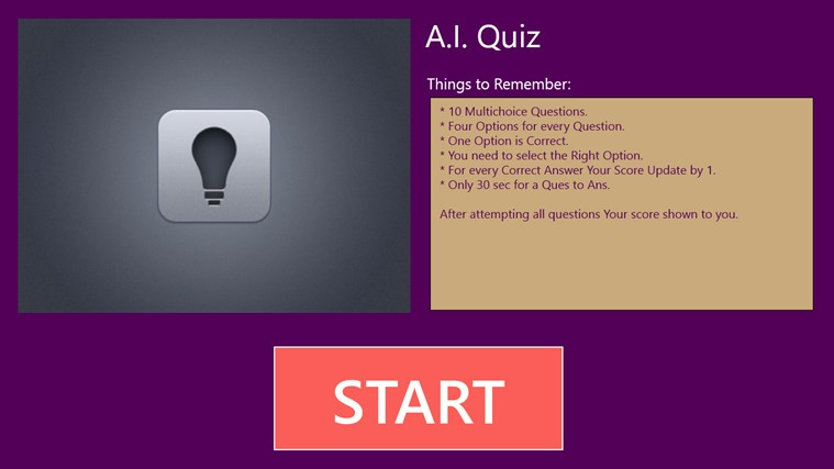 Artificial Intelligence Quiz screenshot 0