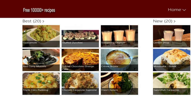 Free 100,000+ recipes screen shot 0