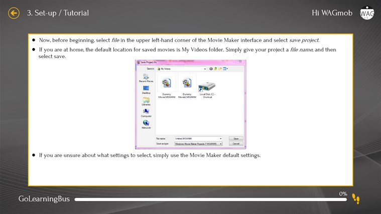 Learn Windows Movie Maker by WAGmob screen shot 4