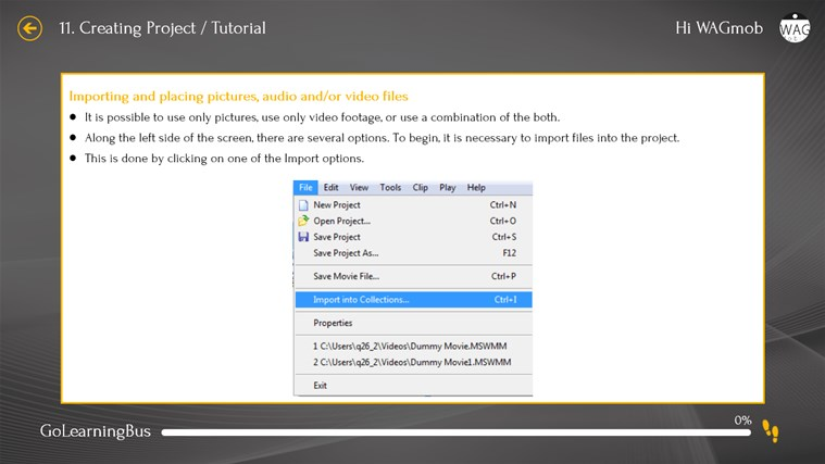 Learn Windows Movie Maker by WAGmob screenshot 8