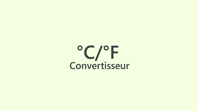 Convertisseur Celsius Fahrenheit screen shot 0