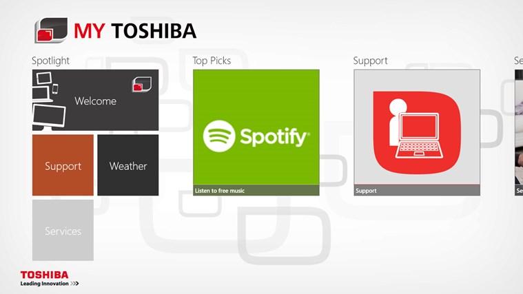 My Toshiba screen shot 0