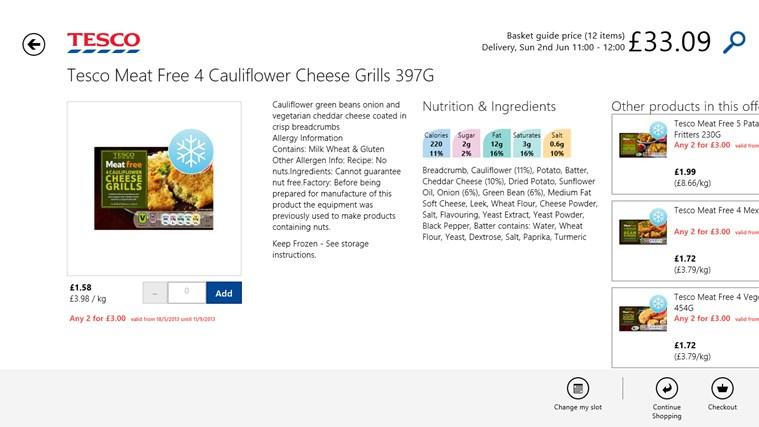 Tesco Groceries screen shot 2