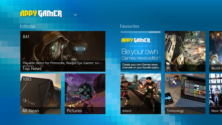 Appy Gamer for Win8 UI screenshot