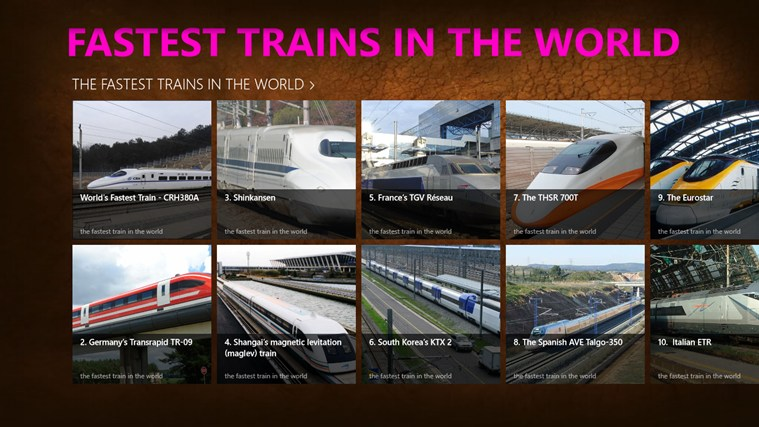 Top ten fastest trains in the world  Railway Technology