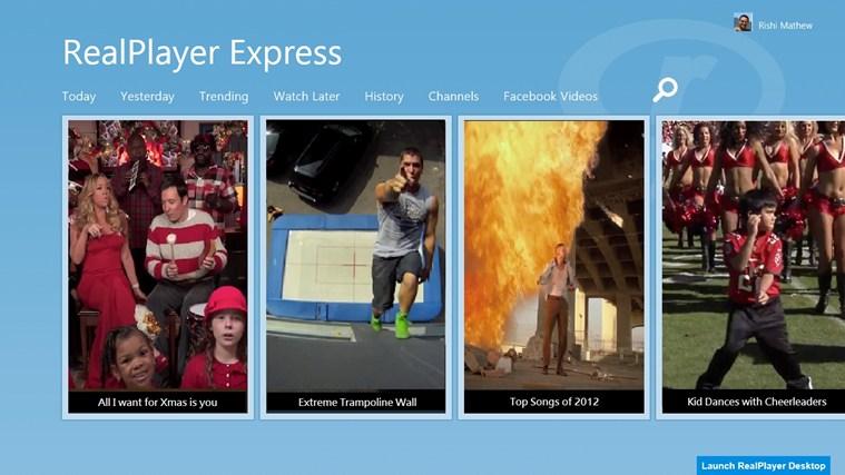 RealPlayer Express full screenshot