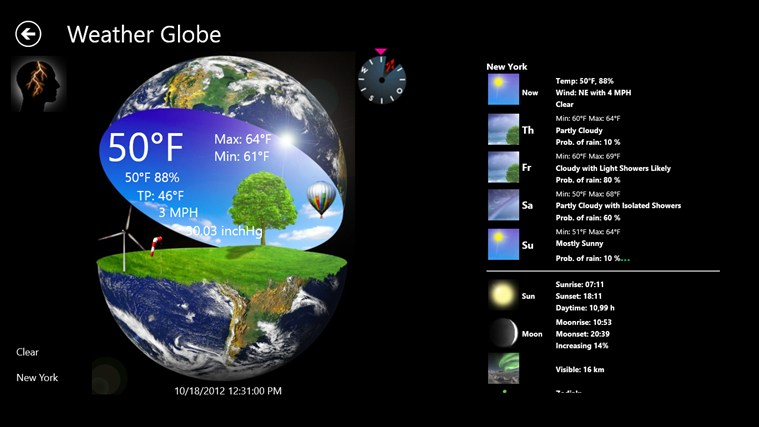 Weather Globe screen shot 0