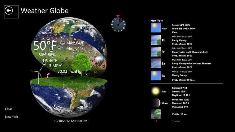 Weather Globe screen shot 2
