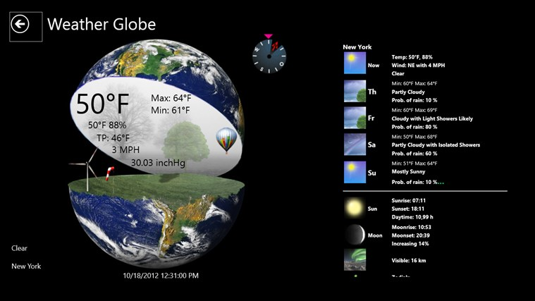 Weather Globe screen shot 4