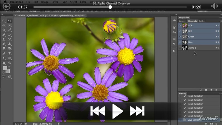 Photoshop CS6 - Selection & Masking petikan skrin 4