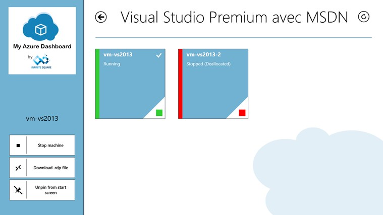My Azure Dashboard screen shot 4