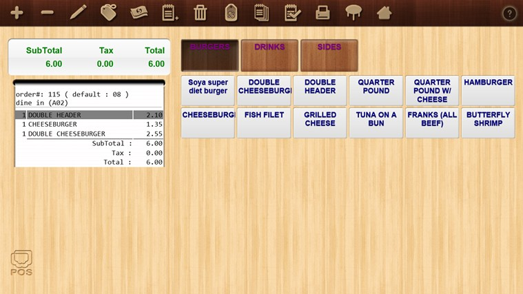 Mobile POS screen shot 2