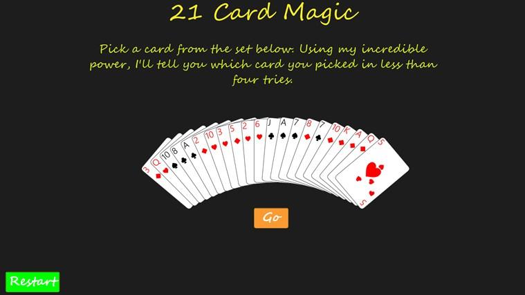 21 Card Magic full screenshot