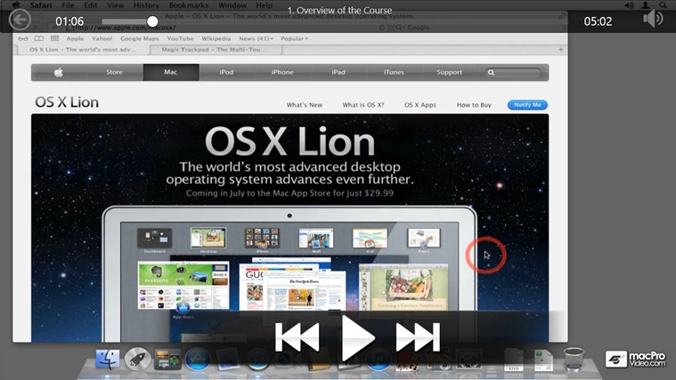 Mac OS X (10.7) 101 - Core Lion captura de pantalla 2