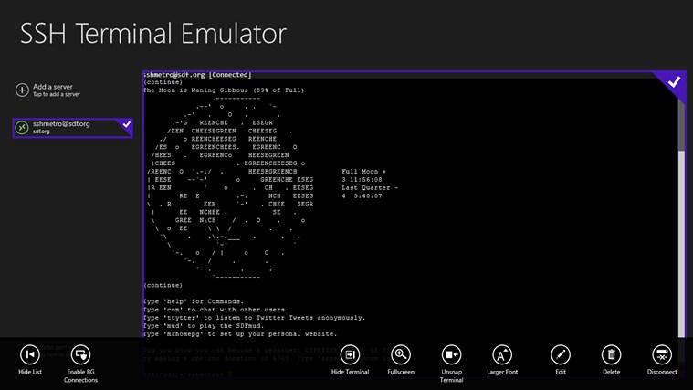 Terminal emulators - e308a