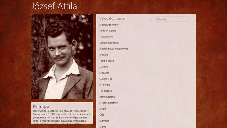 József Attila válogatott versei – 0. képernyőkép