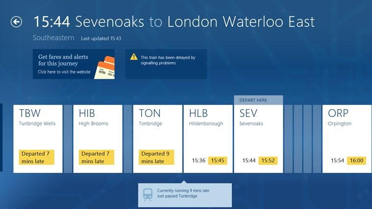 National Rail Enquiries screen shot 4