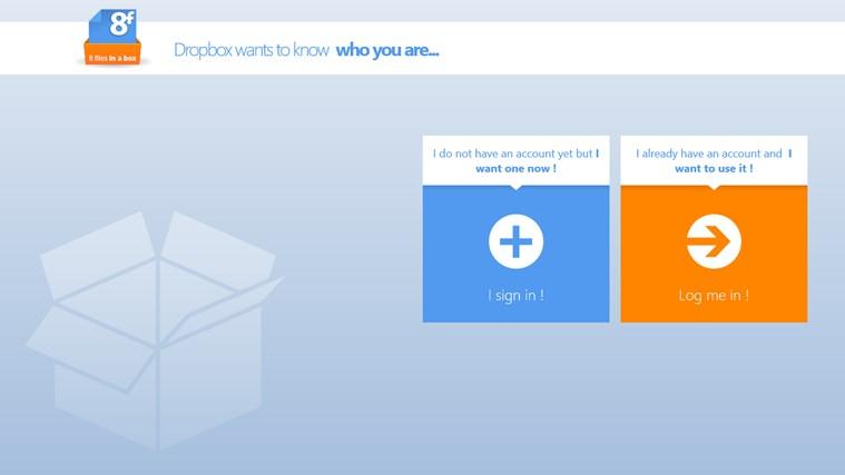 8FilesInABox - Dropbox client screen shot 2