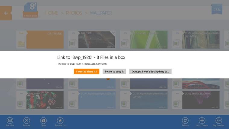 8FilesInABox - Dropbox client screen shot 6