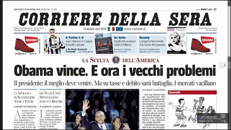 Corriere Della Sera - Digital Edition cattura di schermata 0