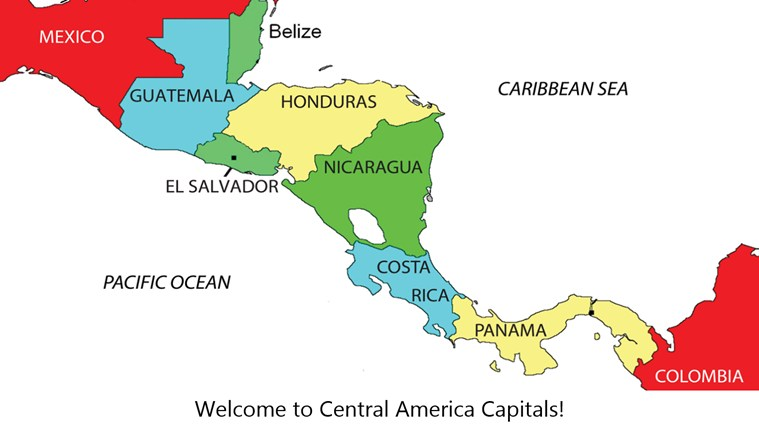 Central America Map Quiz With Capitals DriverLayer