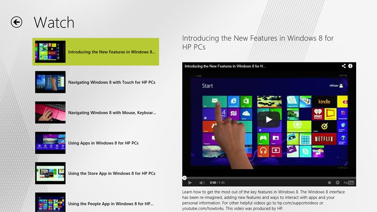 Getting Started with Windows 8 screen shot 2