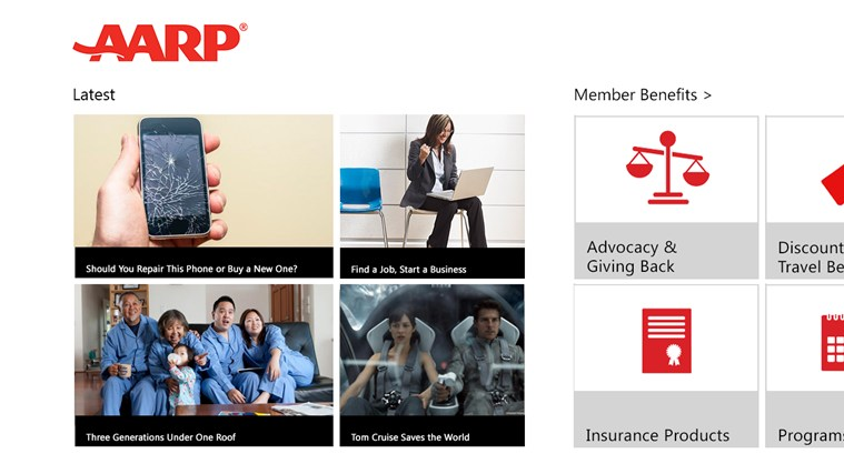 AARP screen shot 0