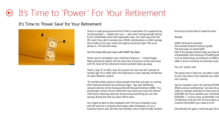 AARP screen shot 4