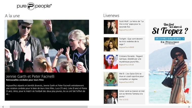 Purepeople - news people et actualités des stars capture d'écran 0
