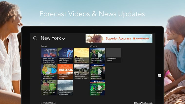AccuWeather for Windows 8 screen shot 4