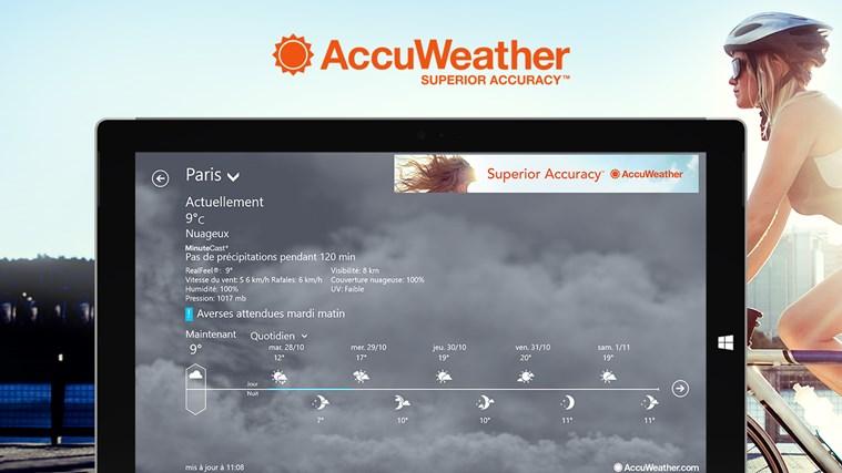 AccuWeather for Windows 8 capture d'écran 0