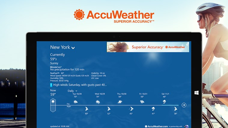 AccuWeather for Windows 8 screen shot 0