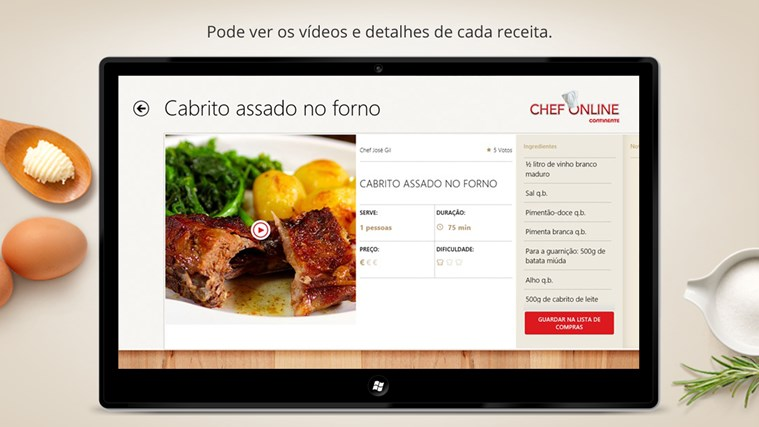 Chef Online captura de ecrã 2