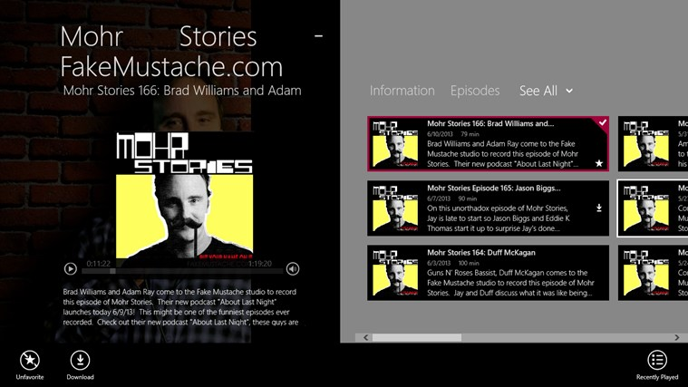 Mohr Stories - FakeMustache.com screen shot 0