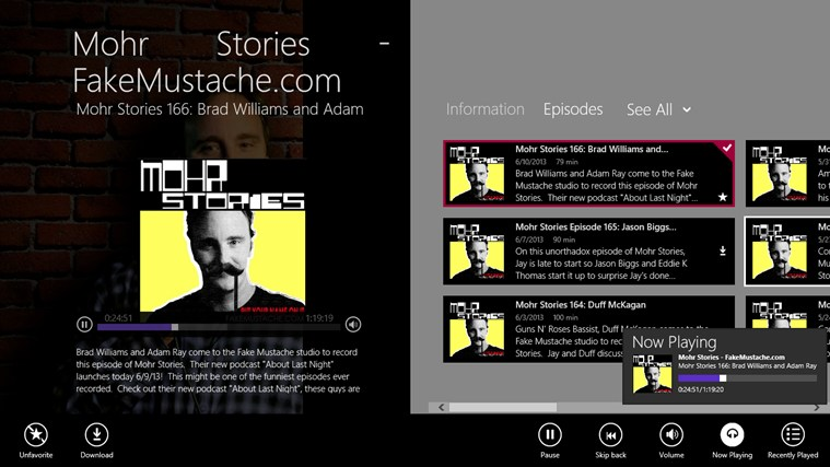 Mohr Stories - FakeMustache.com screen shot 2