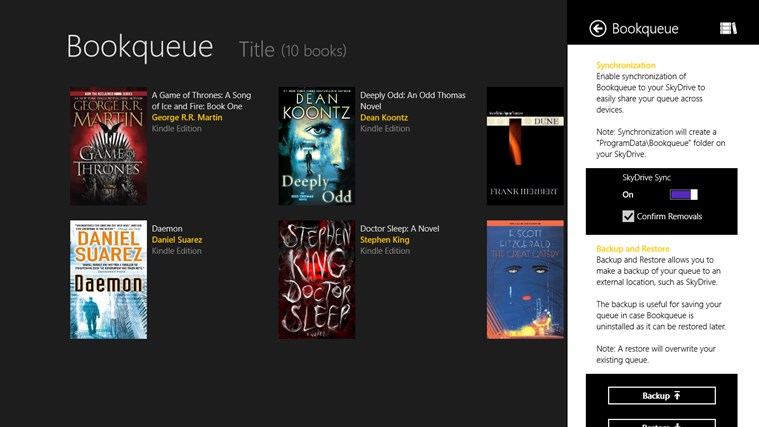 Bookqueue screen shot 8