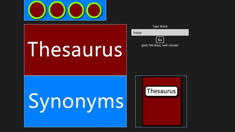 Thesaurus Synonyms screen shot 0