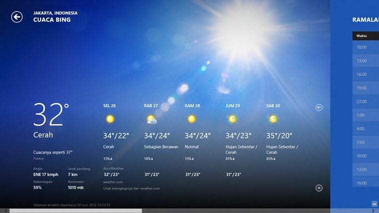 Bing Weather screenshot 0