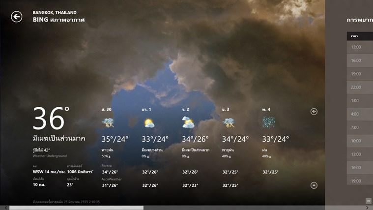 Bing Weather ภาพหน้าจอ 0