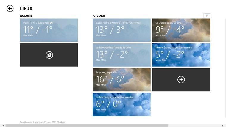 Bing Weather capture d'écran 6
