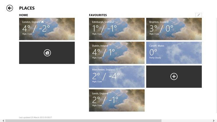 Bing Weather screen shot 4