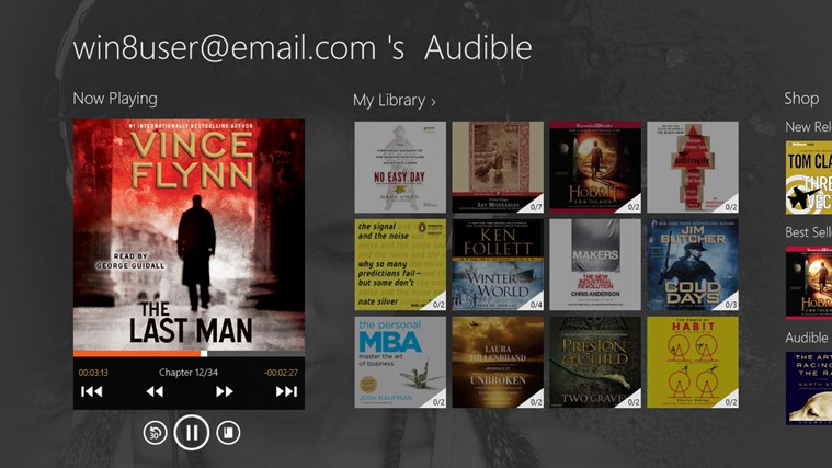 Audible - Audiobooks and more screen shot 0