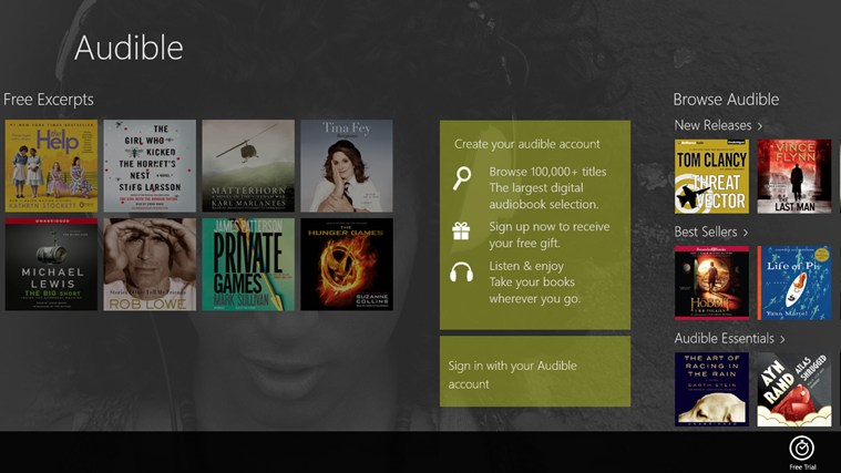 Audible - Audiobooks and more screen shot 2