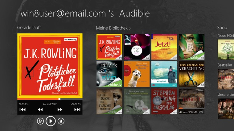 Audible - Audiobooks and more Screenshot 0